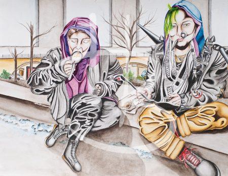 Bildtitel: Straßenkünstler